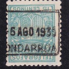 Sellos: VV26- TELÉGRAFOS MATASELLOS ONDARROA VIZCAYA. Lote 133911662