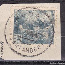 Sellos: VV27-FRANCO USADO RENEDO SANTANDER FECHADOR CIRCULO INTERIOR PEQUEÑO. Lote 133914218