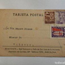 Sellos: TARJETA POSTAL 1943 - REMITENTE EN LA VALENCIA. Lote 134204446