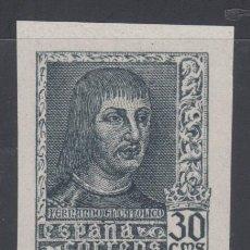 Sellos: ESPAÑA, 1938 EDIFIL Nº 844 AECA /**/, CAMBIO DE COLOR. Lote 136419742