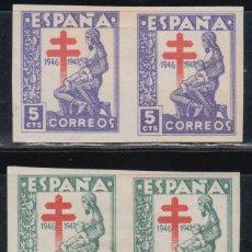 Sellos: ESPAÑA, 1846 EDIFIL Nº 1008 S, 1009 S, /*/ , SIN DENTAR.. Lote 136423390