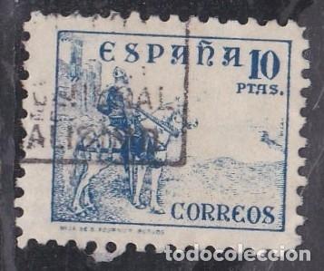 Nº 830 CID DE DIEZ PESETAS MATASELLADO. (Sellos - España - Estado Español - De 1.936 a 1.949 - Usados)