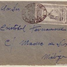 Sellos: CARTA DE TORRE DEL MAR A MÁLAGA, CON SELLO MUTUALIDAD Y FRANQUICIA DEL CARTERO. . Lote 137218698