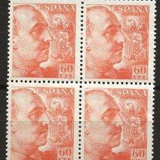 Sellos: R60.BLOCK10/ ESPAÑA 1949-53, EDIFIL 1054 **, GENERALISIMO FRANCO. Lote 138554830