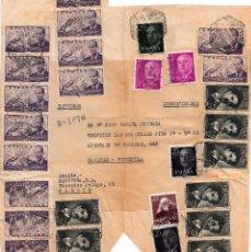 Sellos: FRAGMENTO CERTIFICADO CON 14 SELLOS NUM.947 Y 8 SELLOS DEL NUM 1164 (FORTUNY) DESTINO VENEZUELA. Lote 139544806