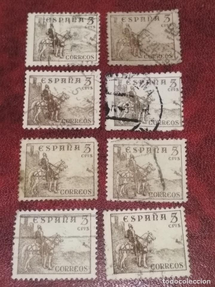 EDIFIL 816B Y 1044 CID 1939. 8 SELLOS CON MATASELLOS. CENSURA MILITAR. (Sellos - España - Estado Español - De 1.936 a 1.949 - Usados)