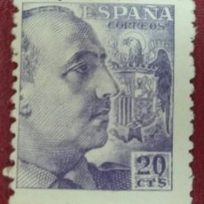 Sellos: ESPAÑA. GENERAL FRANCO, 1940-45. 20 CTS. VIOLETA (Nº 922 EDIFIL).. Lote 140098714