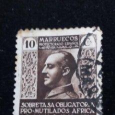 Sellos: SELLO FRANCO PROTECTORADO ESPAÑOL MARRUECOS. 2.- 10 CTS.. Lote 140126966