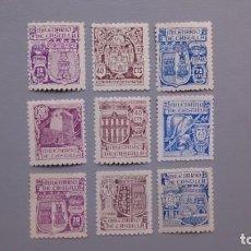 Sellos: ESPAÑA - 1944 - ESTADO ESPAÑOL - EDIFIL 974/982 - SERIE COMPLETA - MH* - NUEVOS - MILENARIO CASTILLA. Lote 140283818