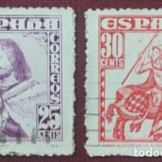 Sellos: ESPAÑA. PERSONAJES, 1948 (Nº 1033-1034 EDIFIL).. Lote 140368118