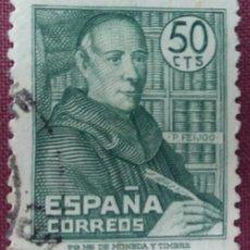 Sellos: ESPAÑA. BENITO FEIJOO, 1947. 50 CTS. VERDE (Nº 1011 EDIFIL).. Lote 140371458