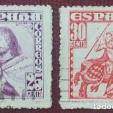 Sellos: ESPAÑA. PERSONAJES, 1948 (Nº 1033-1034 EDIFIL). SELLOS CASI NUEVOS.. Lote 140377062