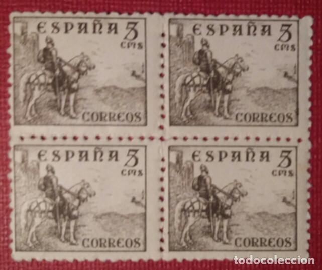ESPAÑA. CIFRAS Y CID, 1940. 5 CTS. SEPIA (Nº 916 EDIFIL). BLOQUE DE 4, SELLOS NUEVOS. (Sellos - España - Estado Español - De 1.936 a 1.949 - Nuevos)