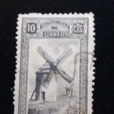 Sellos: SELLO MUTUALIDAD DE CORREOS 10 CTS.- USADO 1940.-MOLINO. Lote 140634970