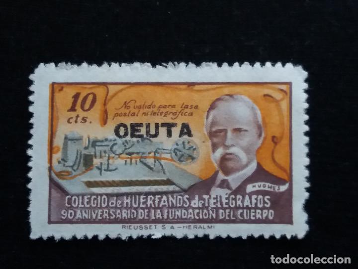 SELLO COLEGIO DE HUERFANOS DE TELEGRAFOS 10 CTS. 1944.- NUEVO.- CEUTA (Sellos - España - Estado Español - De 1.936 a 1.949 - Nuevos)