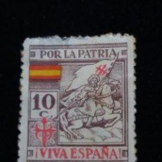 Sellos: SELLO CORREOS. TODO POR LA PATRIA, 10 CTS. AÑO 1940. . Lote 141581874