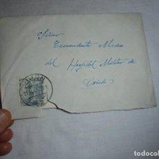 Sellos: SOBRE CON CARTA CIRCULADO 1952 DE LA GUARDIA CIVIL DE OVIEDO AL COMANDANTE MEDICO DEL HOSPITAL MILIT. Lote 142611842