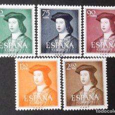 Sellos: 1106-10, SERIE NUEVA, SIN CH. FERNANDO EL CATÓLICO (1952).. Lote 143032866