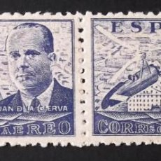 Sellos: 944, NUEVO, SIN CH. PAREJA HORIZONTAL. JUAN DE LA CIERVA (1941).. Lote 143431094