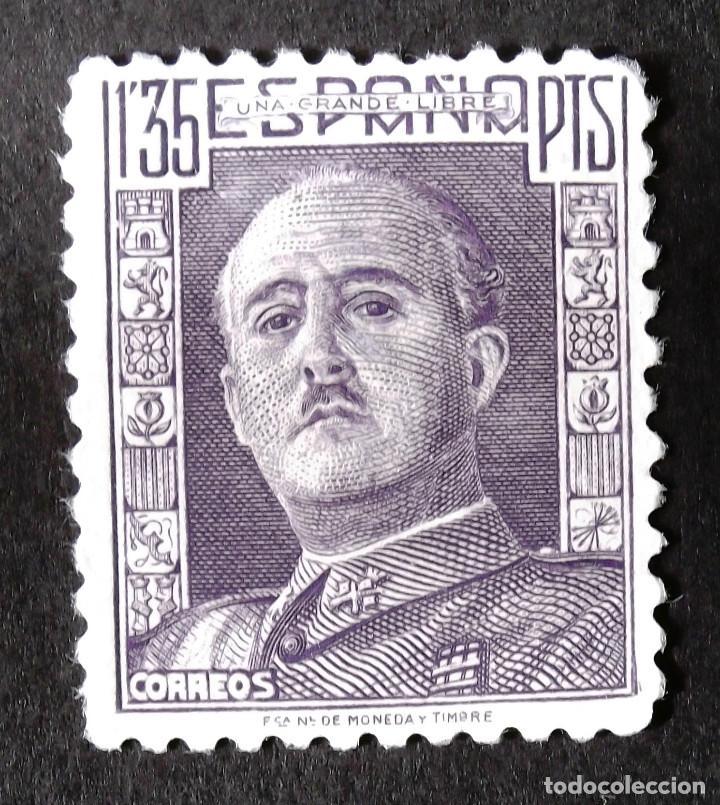 1001D, USADO, SIN MATASELLAR. DENTADO 10 DE LÍNEA. FRANCO (1946). (Sellos - España - Estado Español - De 1.936 a 1.949 - Usados)