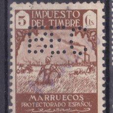 Sellos: VV3- FISCAL IMPUESTO DEL TIMBRE MARRUECOS PERFORADO BEC. Lote 143663950