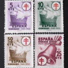 Sellos: 1066-69, SERIE USADA SIN MATASELLAR. PRO TUBERCULOSOS (1949).. Lote 143809494