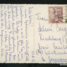 Sellos: TP CIRCULADA A ALEMANIA EL 28 AGO. 1952. FECHADOR *SEVILLA* SOBRE EDIFIL Nº 1048 Y 1056.. Lote 144035722