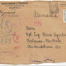 Sellos: EDIFIL 930. SOBRE CIRCULADO DESDE MADRID A ALEMANIA. 12-MAR-1941. Lote 145170650
