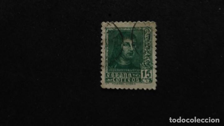 SELLO ESPAÑA 841A-ESTADO ESPAÑOL. FERNANDO EL CATÓLICO.1938. PIE DE IMPRENTA LIT.HERACLIO FOURNIER. (Sellos - España - Estado Español - De 1.936 a 1.949 - Usados)