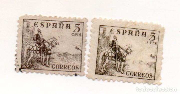 ESPAÑA 1937/40 EDIFIL 816B USADOS (Sellos - España - Estado Español - De 1.936 a 1.949 - Nuevos)