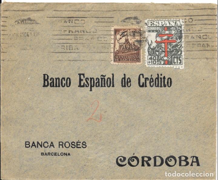 Sellos: PRO-TUBERCULOSOS. 3 CARTAS-FRONTALES. SELLOS DE 40 + 10 CTS. - Foto 2 - 146019294