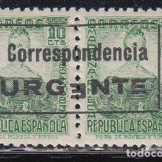Sellos: BURGOS. 1936 EDIFIL Nº 44HEA /*/, PRIMERA *E* DE URGENTE AL REVÉS.. Lote 146301146