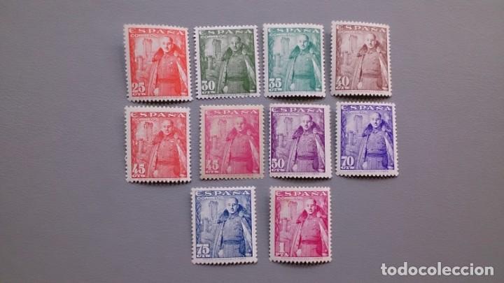 ESPAÑA - 1948-1954 - EDIFIL 1024/1032 - SERIE COMPLETA - MNH** - NUEVOS - GENERAL FRANCO Y CASTILLO. (Sellos - España - Estado Español - De 1.936 a 1.949 - Nuevos)