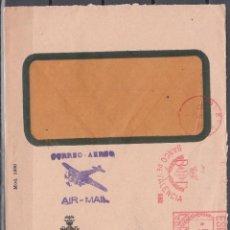 Sellos: SOBRE BANCO DE VALENCIA, FRANQUEO MECÁNICO. CORREO AÉREO.. Lote 178899476