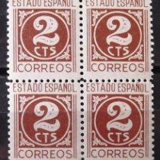 Sellos: EDIFIL 915, BLOQUE DE 4, NUEVO, SIN CH. CIFRAS.. Lote 147432950