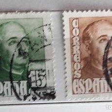 Sellos: ESPAÑA 1948, 2 SELLOS USADOS DE FRANCO . Lote 147537490