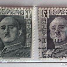 Sellos: ESPAÑA 1943, 2 SELLOS USADOS DE FRANCO . Lote 147537558