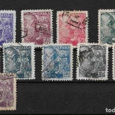 Sellos: ESPAÑA 1939 GENERAL FRANCO 10 VALORES SANCHEZ TODA. Lote 148204938