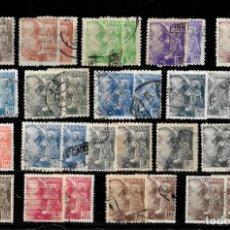 Sellos: ESPAÑA 1940-45 GENERAL FRANCO 17 VALORES 2 SERIES COMPLETAS. Lote 148205318