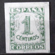 """Sellos: EDIFIL 802, USADO, SIN MATASELLO. FALSO FILATÉLICO CON """"S"""" EN """"CÉNTIMOS"""". JUNTA DE DEFENSA NACIONAL.. Lote 148314482"""