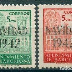 Sellos: 1942 EDIFIL BARCELONA SH 40**/41* - NAVIDAD 1942. Lote 148397926