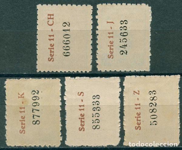 Sellos: 1944 Edifil Barcelona 55/59** - Escudos nacional y de la ciudad - Foto 2 - 148398670