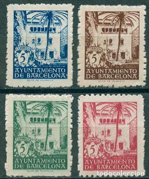 1945 EDIFIL BARCELONA 65/68** - CASA DEL ARCEDIANO (Sellos - España - Estado Español - De 1.936 a 1.949 - Nuevos)