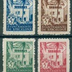 Sellos: 1945 EDIFIL BARCELONA 65/68** - CASA DEL ARCEDIANO. Lote 148399126