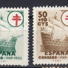 Sellos: 1949 EDIFIL 1066/69 NUEVOS. PRO TUBERCULOSOS. . Lote 148705270