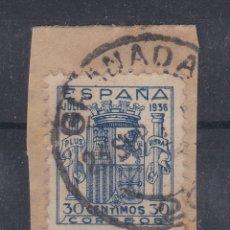 Sellos: ESPAÑA.- 801 ESCUDO DE GRANADA MATASELLADO CON MUY BUEN CENTRAJE .. Lote 150245785