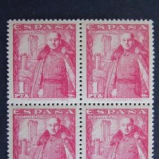 Selos: SELLOS DE ESPAÑA - GENERAL FRANCO - 1 PESETA - EDIFIL 1032 - BLOQUE DE CUATRO - NUEVOS ... A1318. Lote 150648126