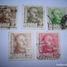 Sellos: CINCO SELLOS DE CORREOS (CIRCULADOS) DE FRANCO AÑO 1948/05/20 – 1954/08/06 . Lote 150672518