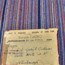 Sellos: CARTA ENVIADA DE FRANCIA A LLUCMAJOR MALLORCA MATASELLOS CENSURA Y TERCER REICH CARTA EN INTERIOR. Lote 150781141