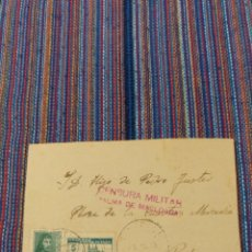 Sellos: CARTA 1938 CENSURA MILITAR PALMA MALLORCA. Lote 150782724
